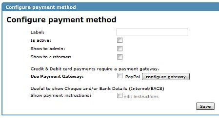 Configure your payment method