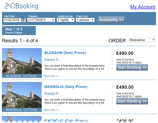 24:7Booking Online Search Demonstration